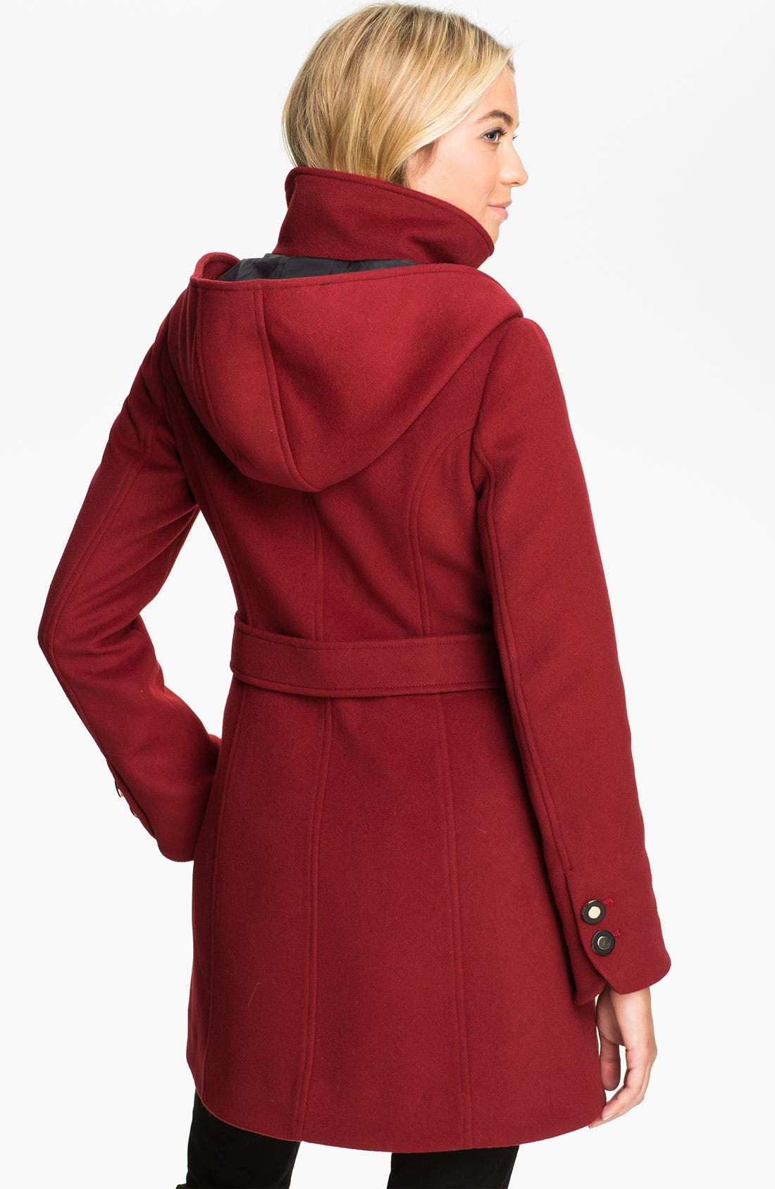 Alternate Image 2  - Soïa & Kyo Hooded Wool Coat