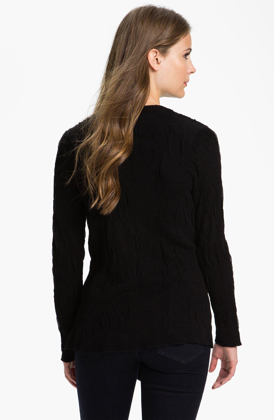 Alternate Image 2  - Eileen Fisher Angle Hem Textured Cardigan
