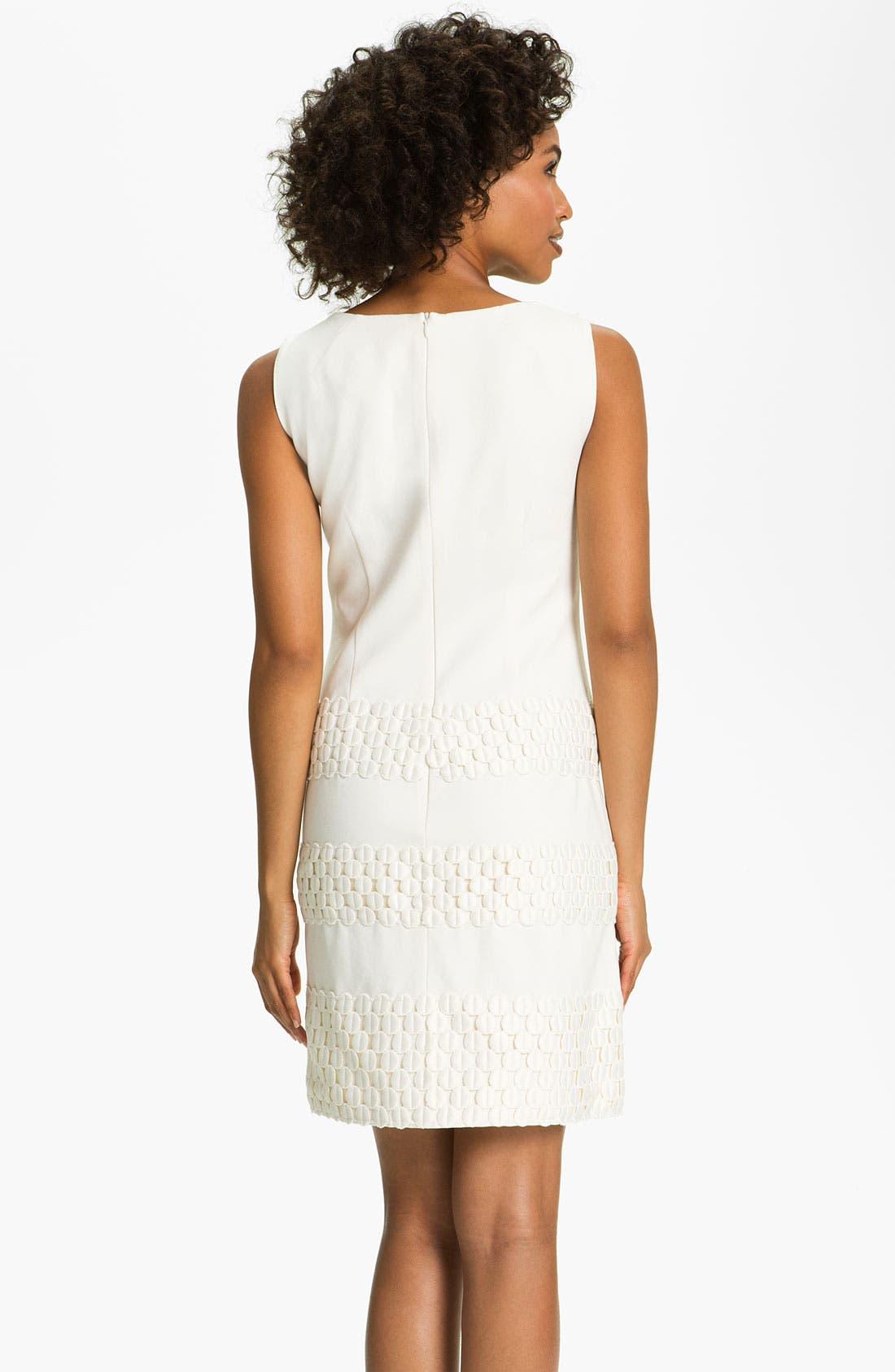 Alternate Image 2  - Taylor Dresses Ponte Shift Dress