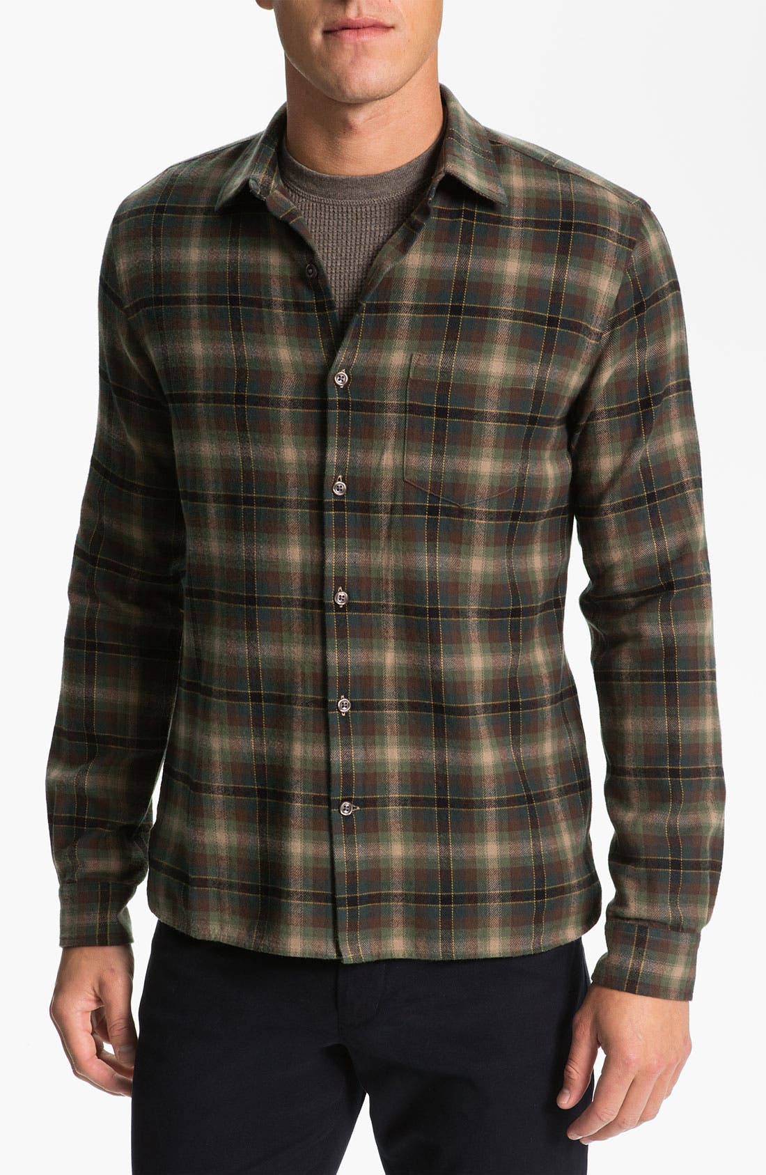 Alternate Image 1 Selected - Vince Plaid Cotton Flannel Shirt