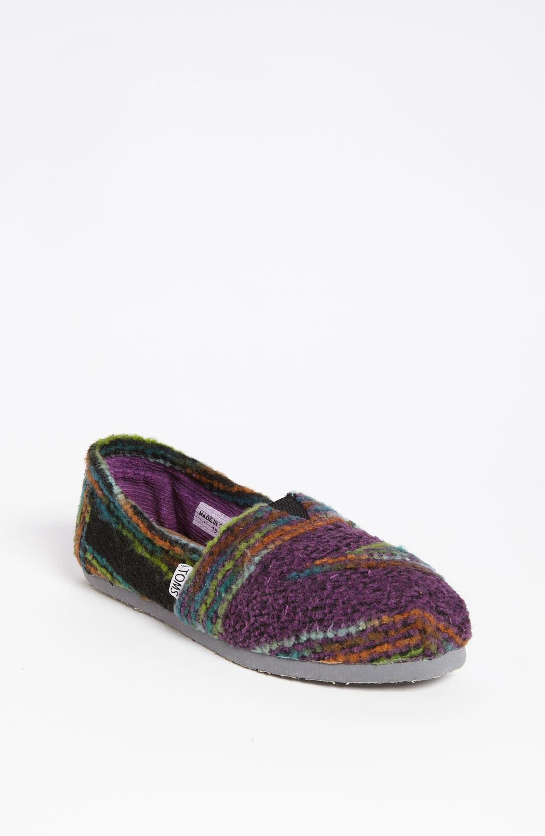 Alternate Image 1 Selected - TOMS 'Classic - Stripe' Woolen Slip-On (Women)