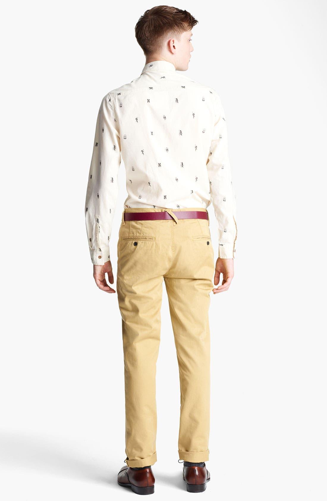 Alternate Image 5  - Topman 'Tiki Man' Woven Shirt