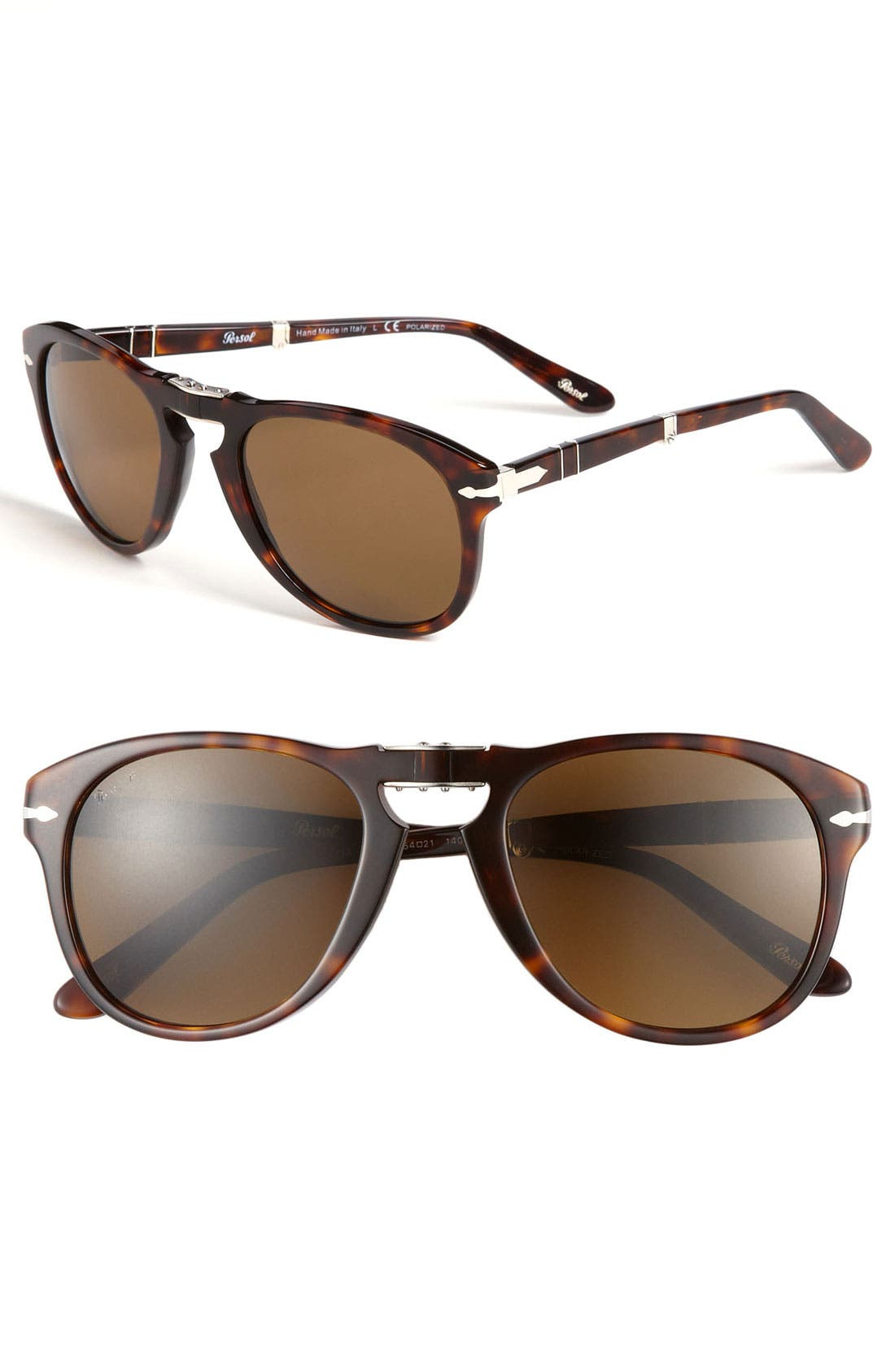 Main Image - Persol '714' 57mm Folding Polarized Keyhole Sunglasses