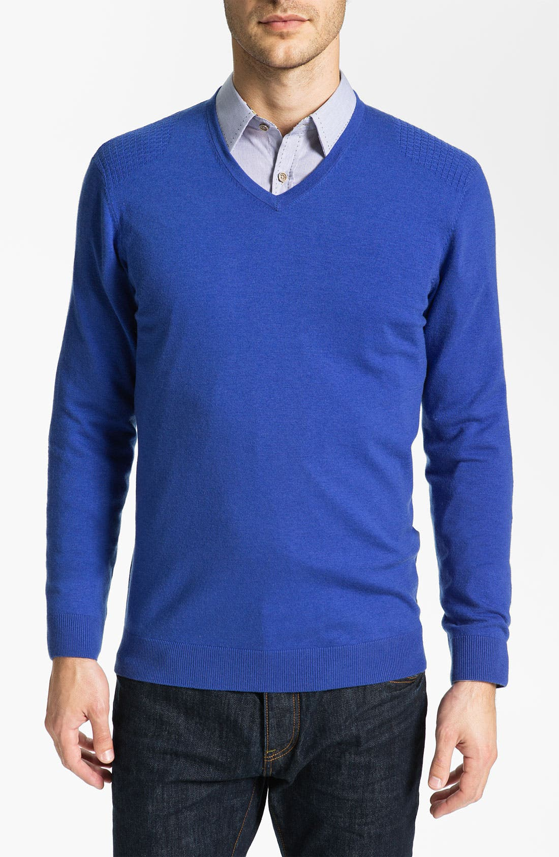 Alternate Image 1 Selected - Ted Baker London 'Abadaz' V-Neck Sweater