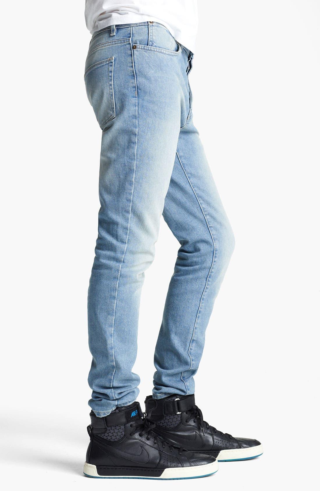 Alternate Image 3  - Topman 'Lome' Skinny Jeans (Light)