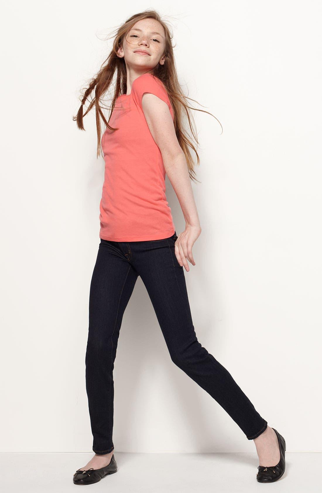 Alternate Image 3  - 7 For All Mankind® Skinny Jeans (Big Girls)