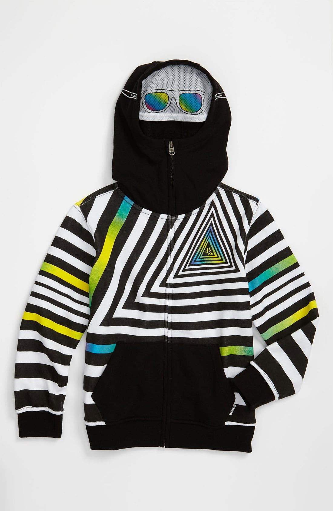 Alternate Image 1 Selected - Volcom 'Inyoface' Mask Hoodie (Little Boys)