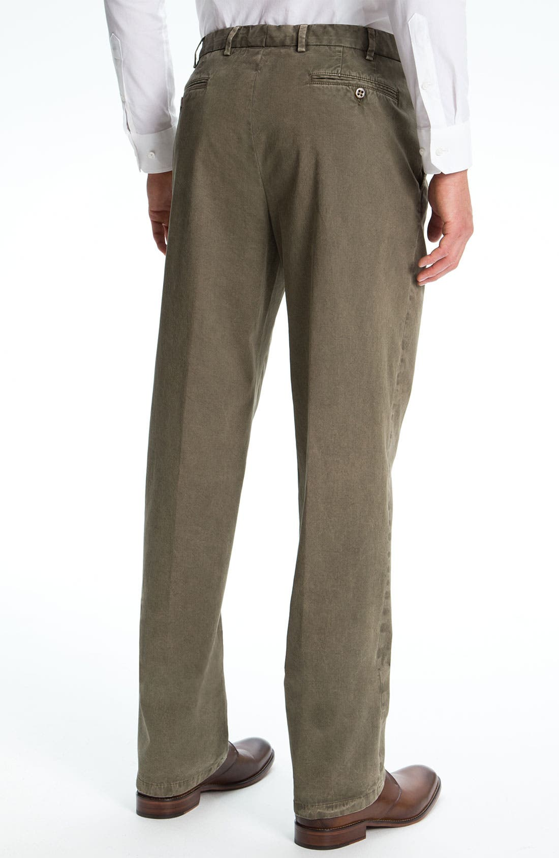 Alternate Image 2  - Zanella 'Devon' Flat Front Cotton Trousers