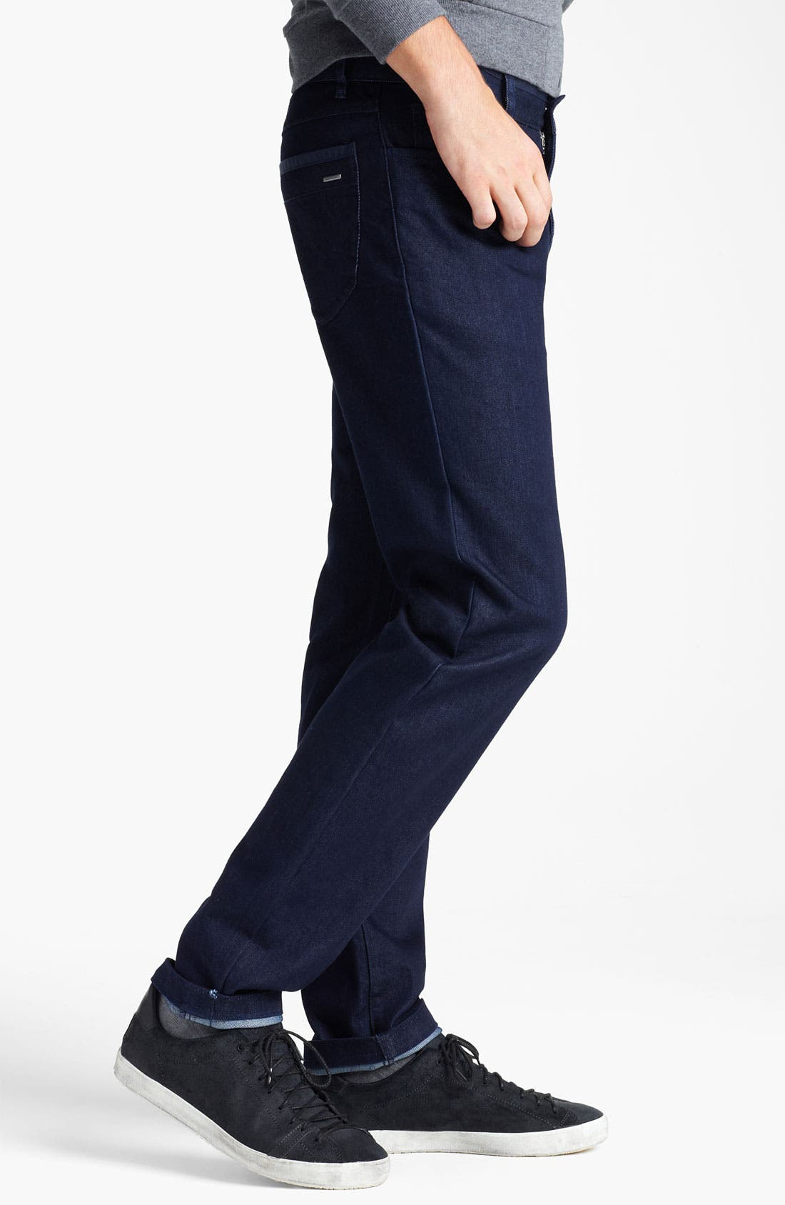 Alternate Image 3  - Zegna Sport 'Cool Max' Straight Leg Jeans (Dark Blue)