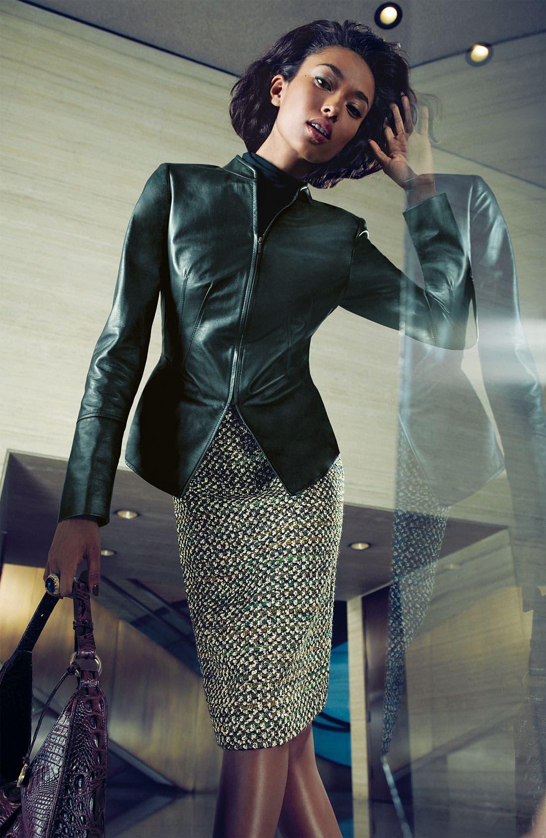 Alternate Image 6  - Lafayette 148 New York Pearlized Leather Jacket