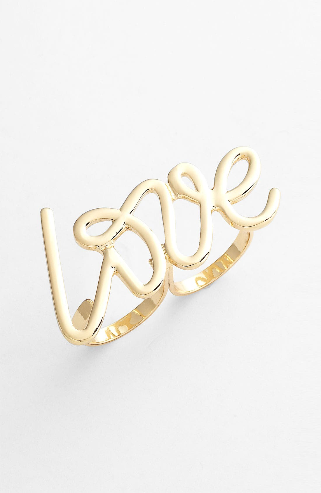 Alternate Image 1 Selected - Spring Street 'Love' Double Ring