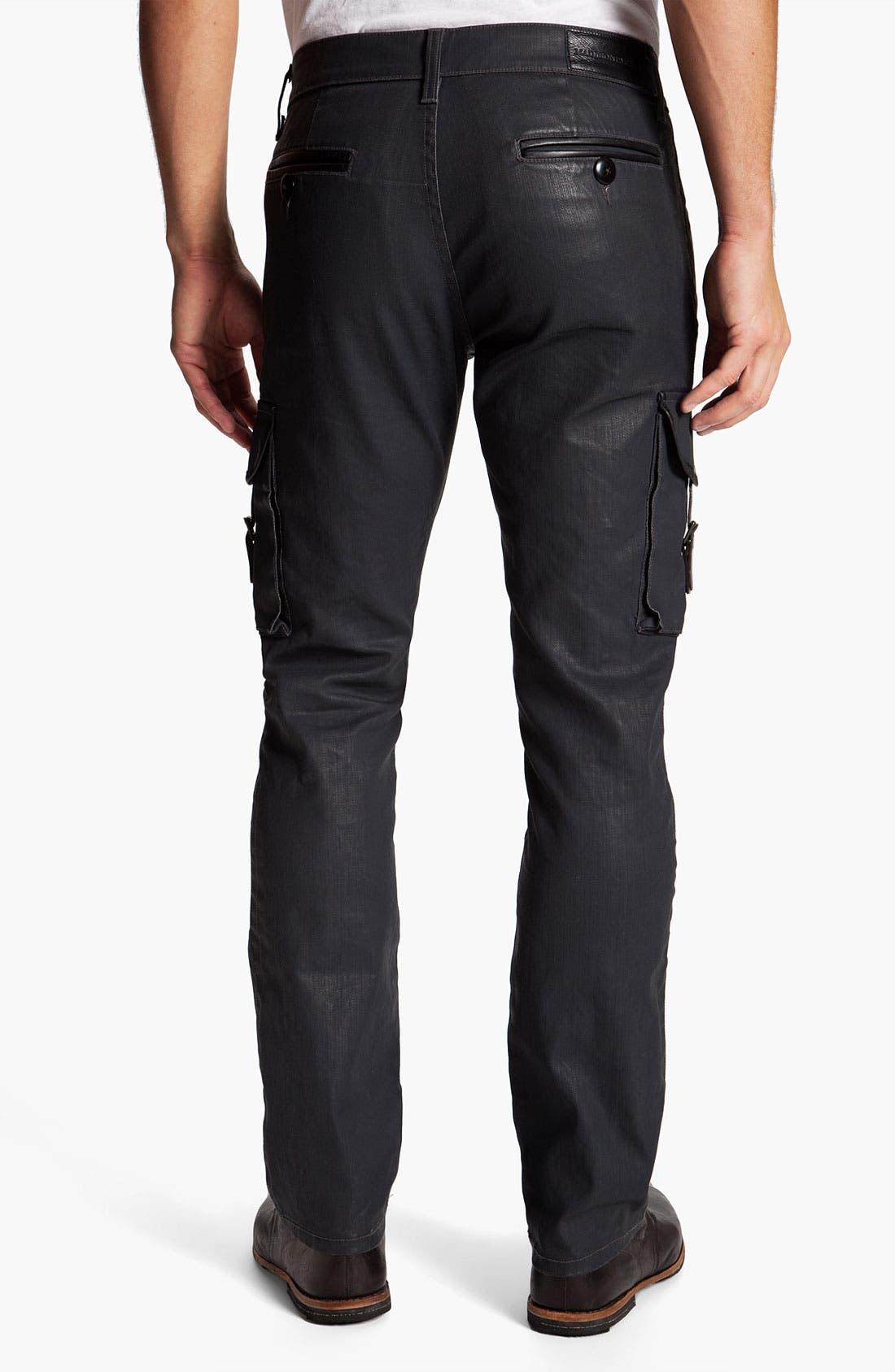 Alternate Image 2  - Madisonpark Collective Coated Slim Straight Leg Cargo Pants