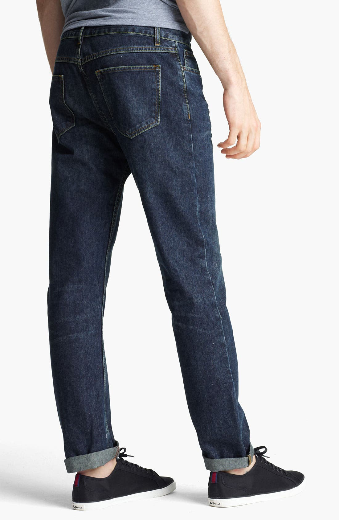 Alternate Image 2  - Topman 'Luther' Slim Fit Jeans (Indigo)