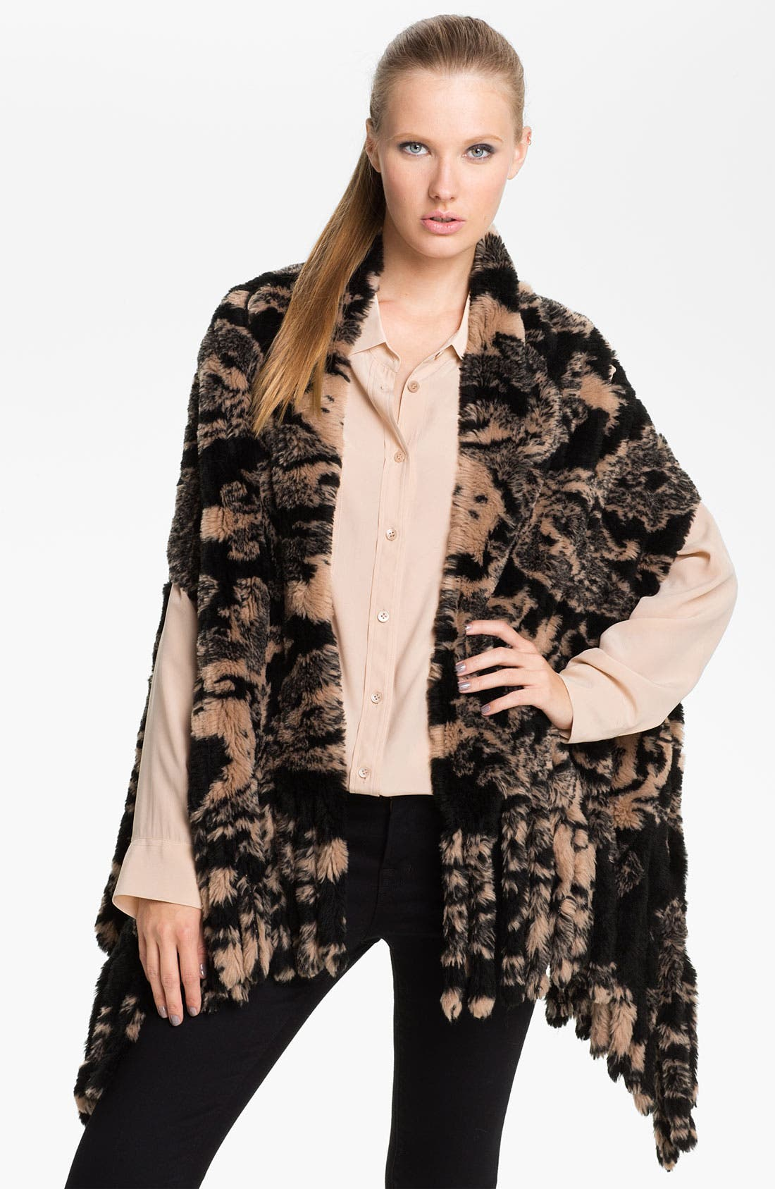 Alternate Image 1 Selected - Nordstrom 'Baroque' Faux Fur Vest