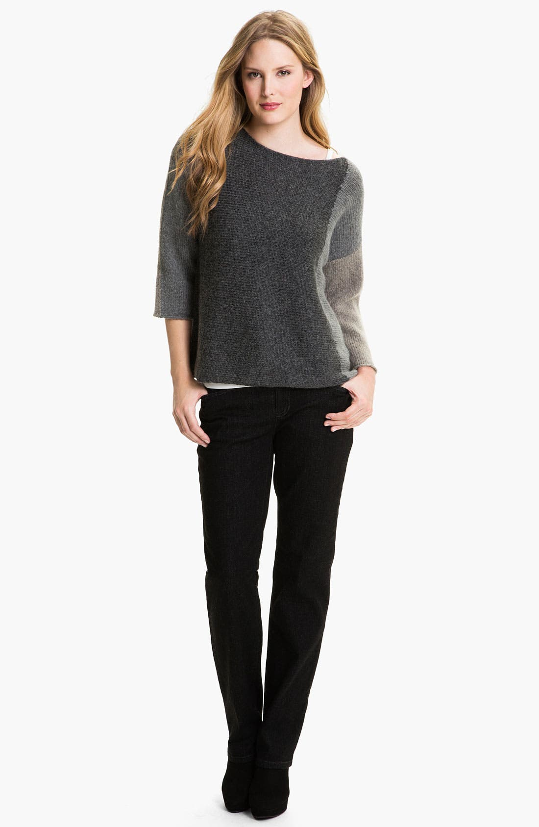 Alternate Image 4  - Eileen Fisher Colorblocked Sweater
