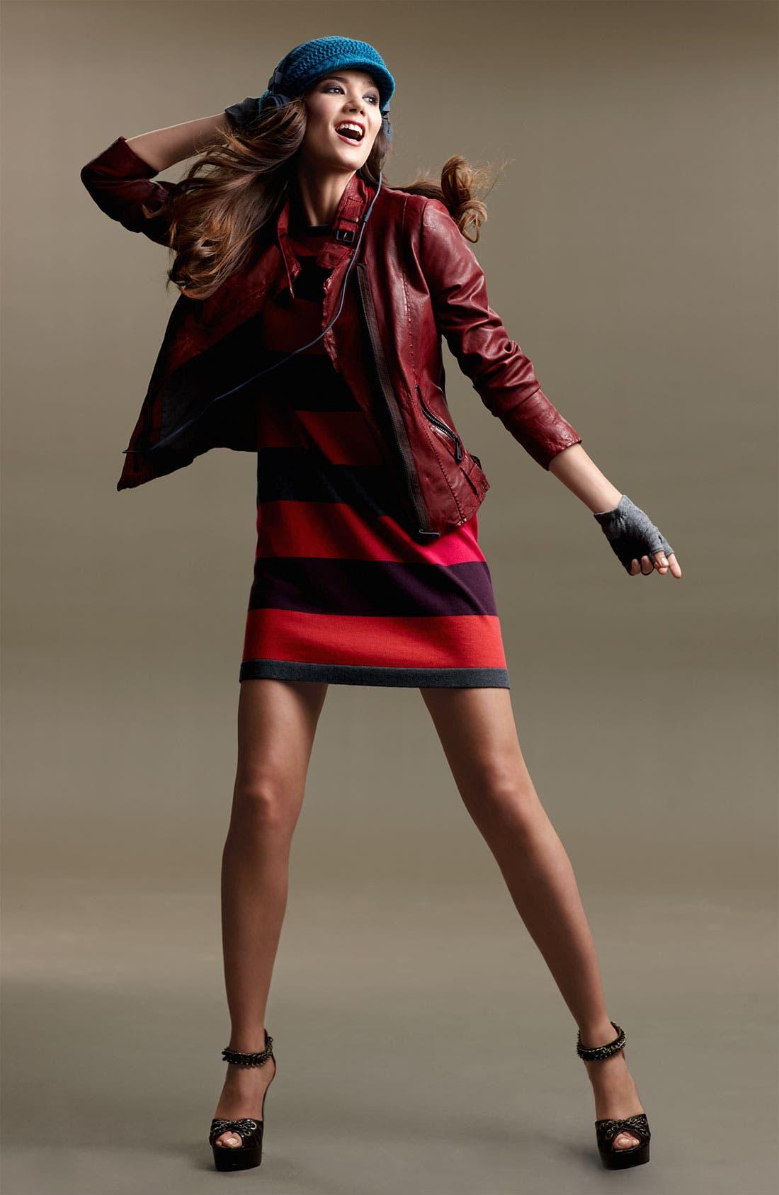 Alternate Image 6  - Calvin Klein Stripe Knit Sweater Dress