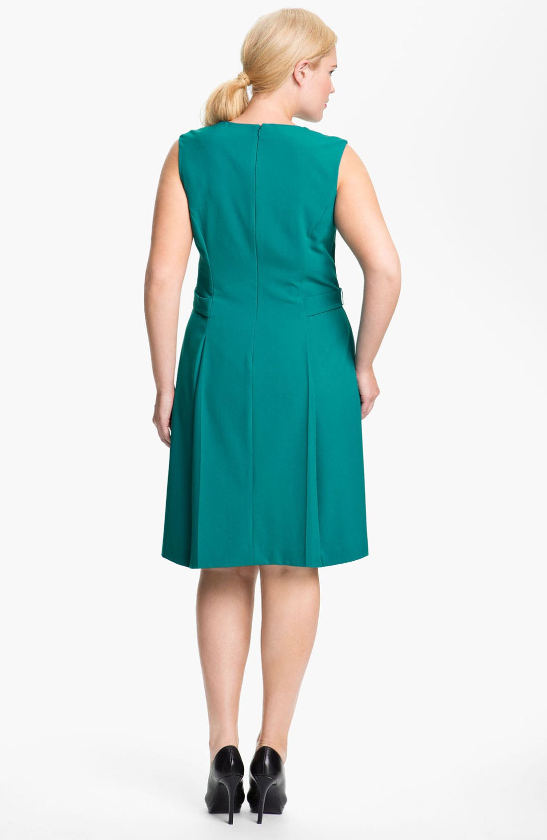 Alternate Image 2  - Calvin Klein Side Tab Sleeveless Dress (Plus)