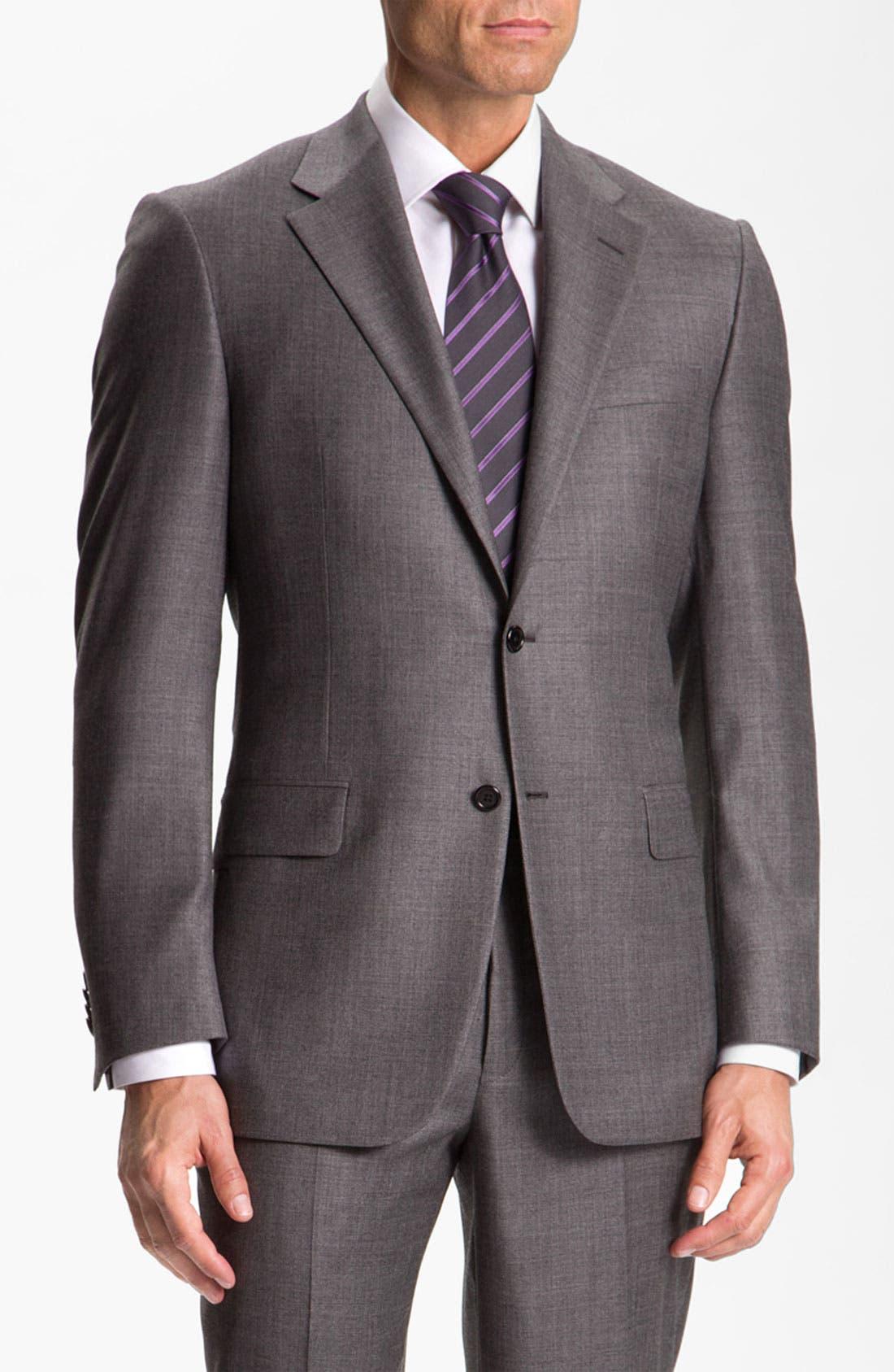 Alternate Image 1 Selected - Hickey Freeman Solid Wool Suit