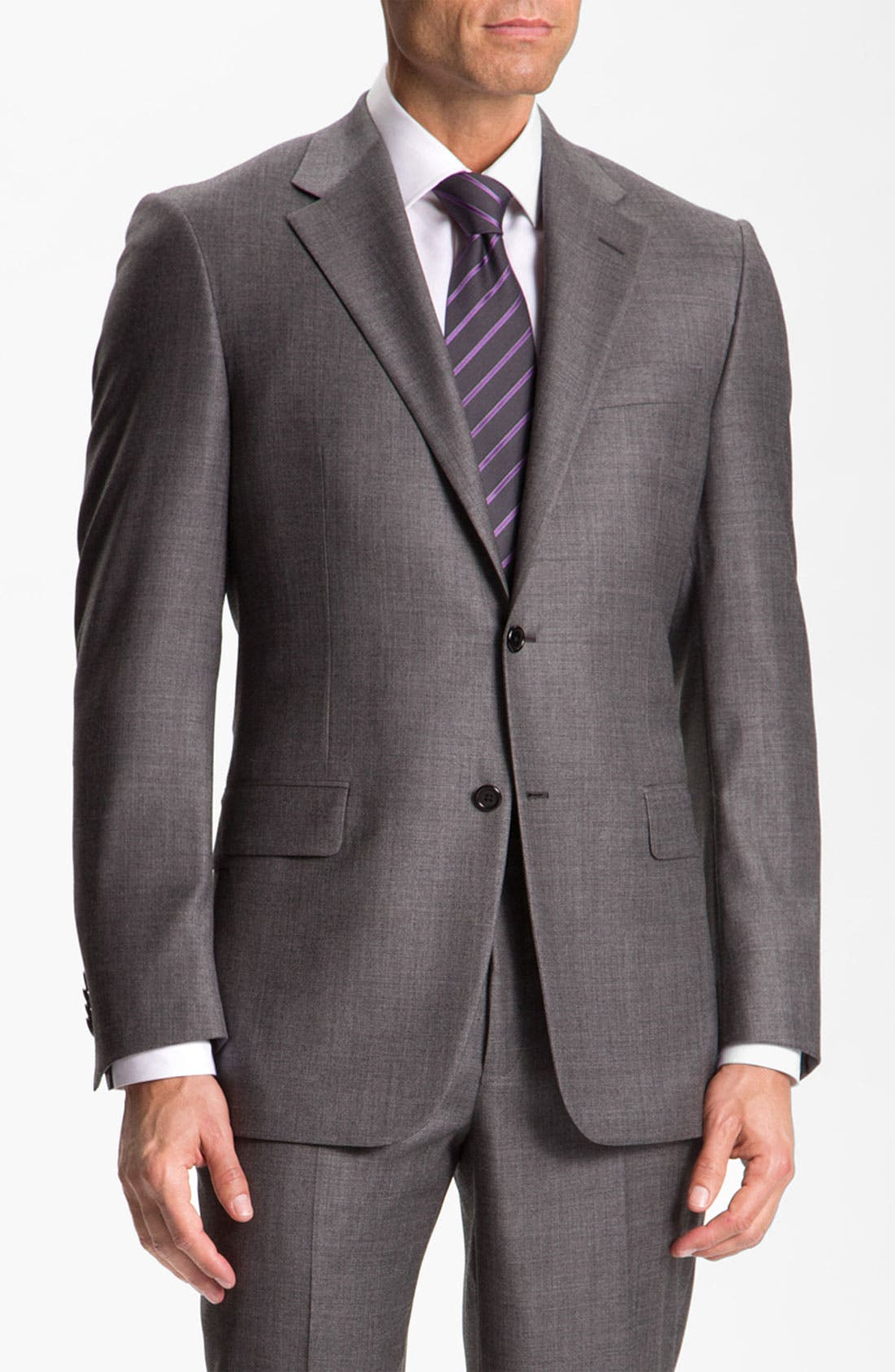 Main Image - Hickey Freeman Solid Wool Suit