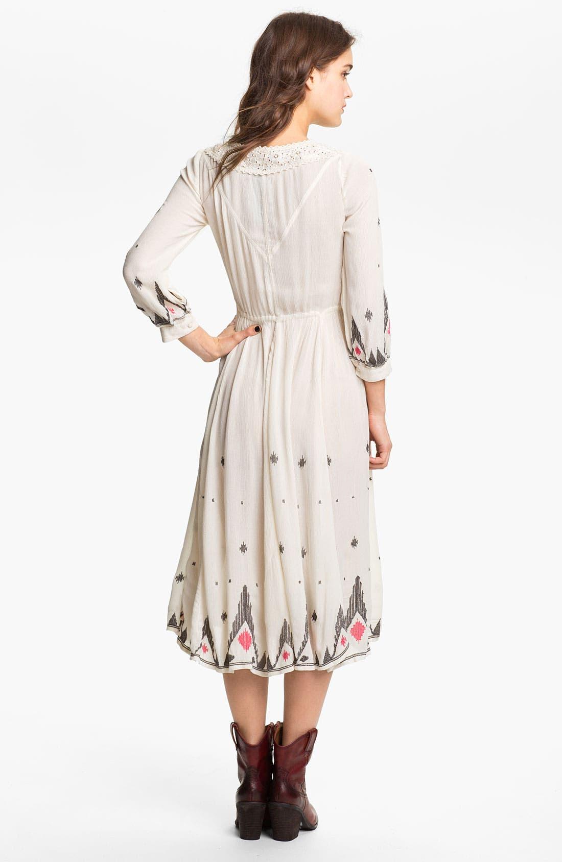 Alternate Image 2  - Free People 'Splendor' Embroidered Peasant Dress