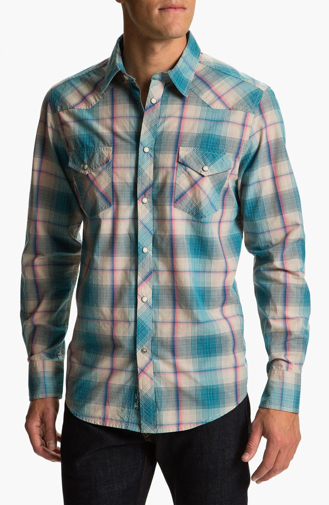 Main Image - Ben Sherman 'Hoxton' Plaid Western Shirt