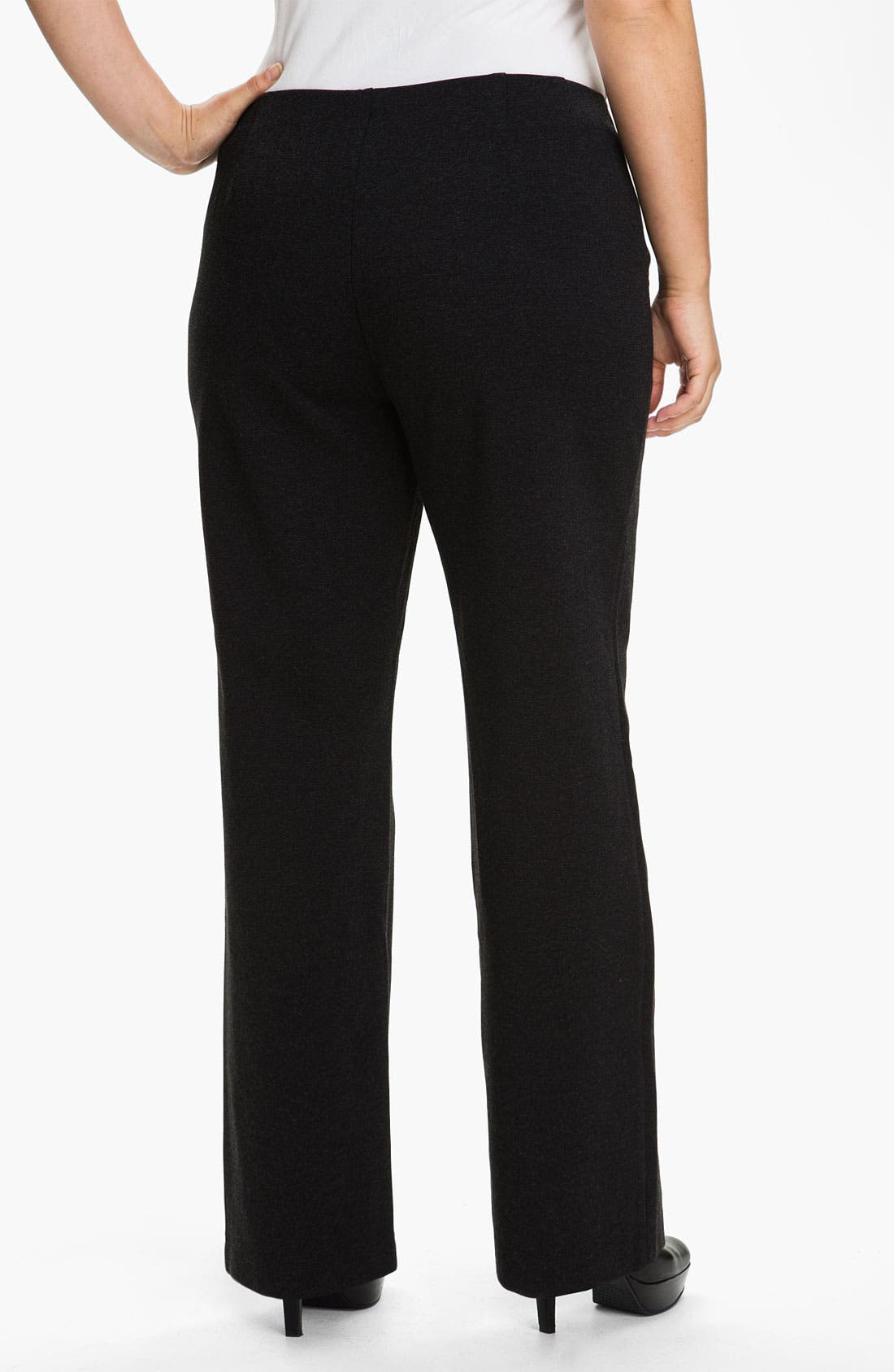 Alternate Image 2  - Eileen Fisher Straight Leg Knit Pants (Plus)
