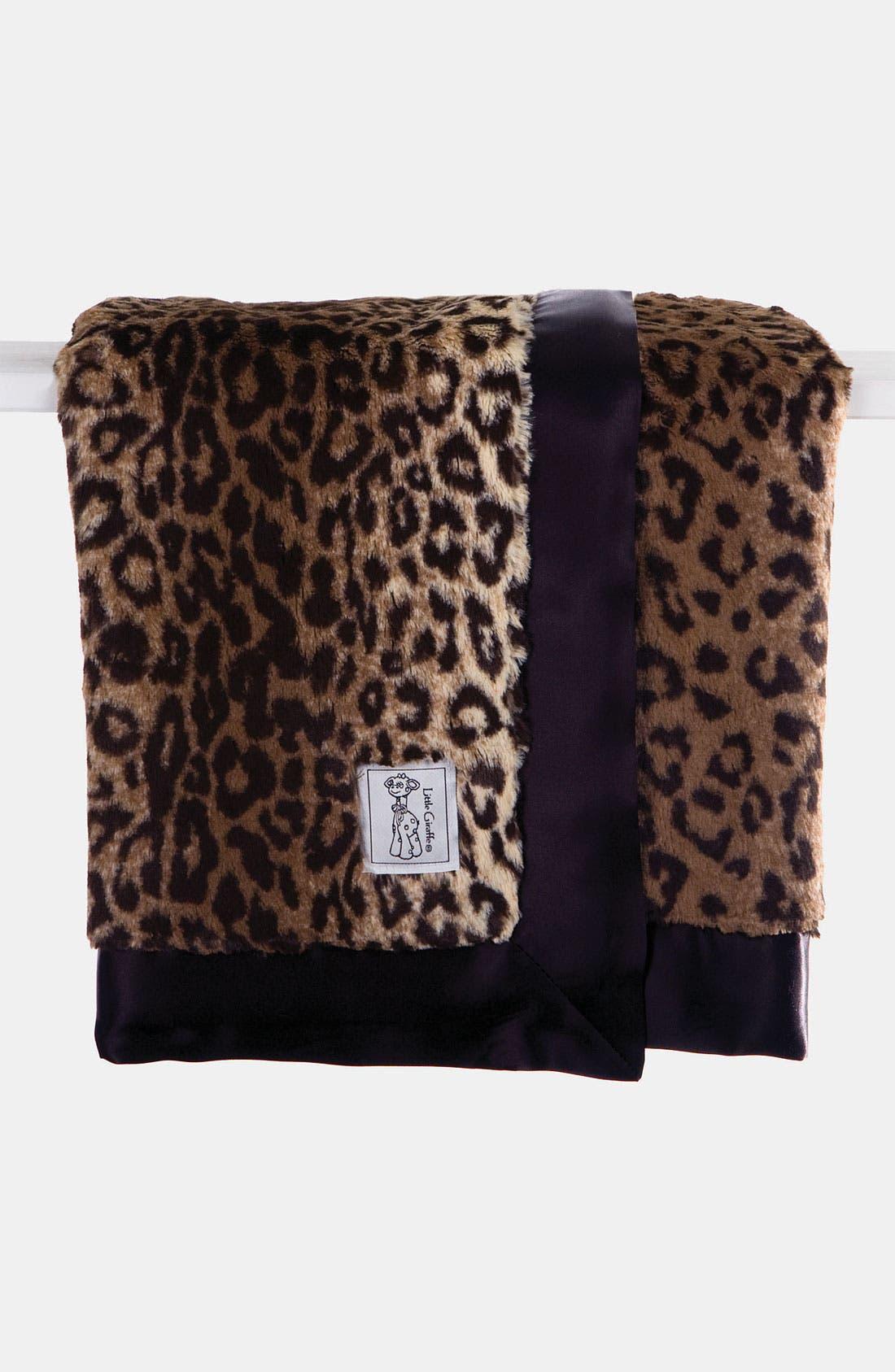 Leopard Print Blanket,                             Main thumbnail 1, color,                             Espresso