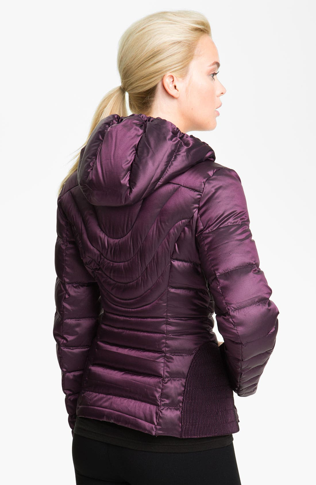 Alternate Image 2  - Bernardo Hooded Iridescent Down Jacket