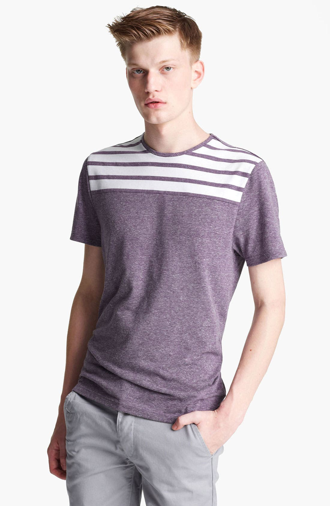 Main Image - Topman 'Noble' Cut And Sew T-Shirt