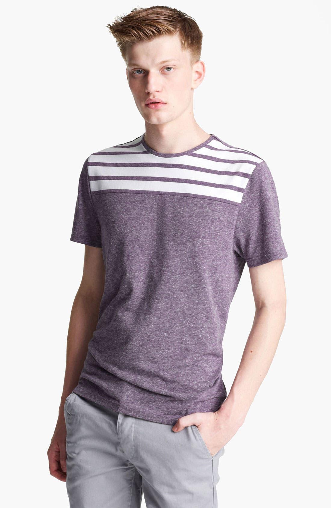 Main Image - Topman 'Noble' Cut And Sew T-Shirt