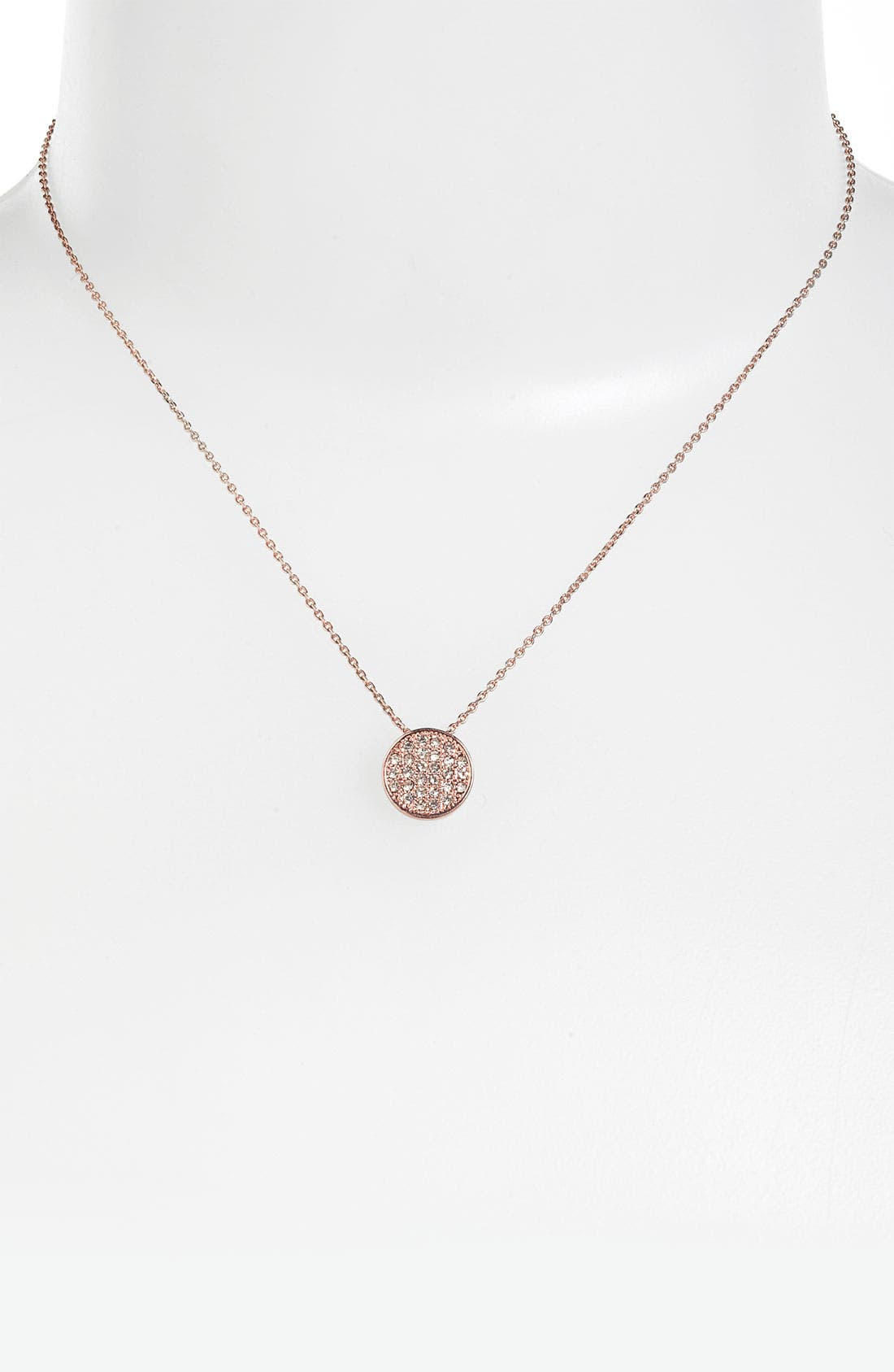 Main Image - Stephan & Co. Pavé Circle Pendant Necklace