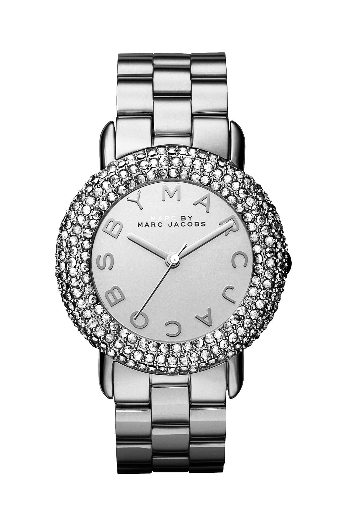Alternate Image 1 Selected - MARC JACOBS 'Marci' Mirror Dial Crystal Bezel Watch, 36mm