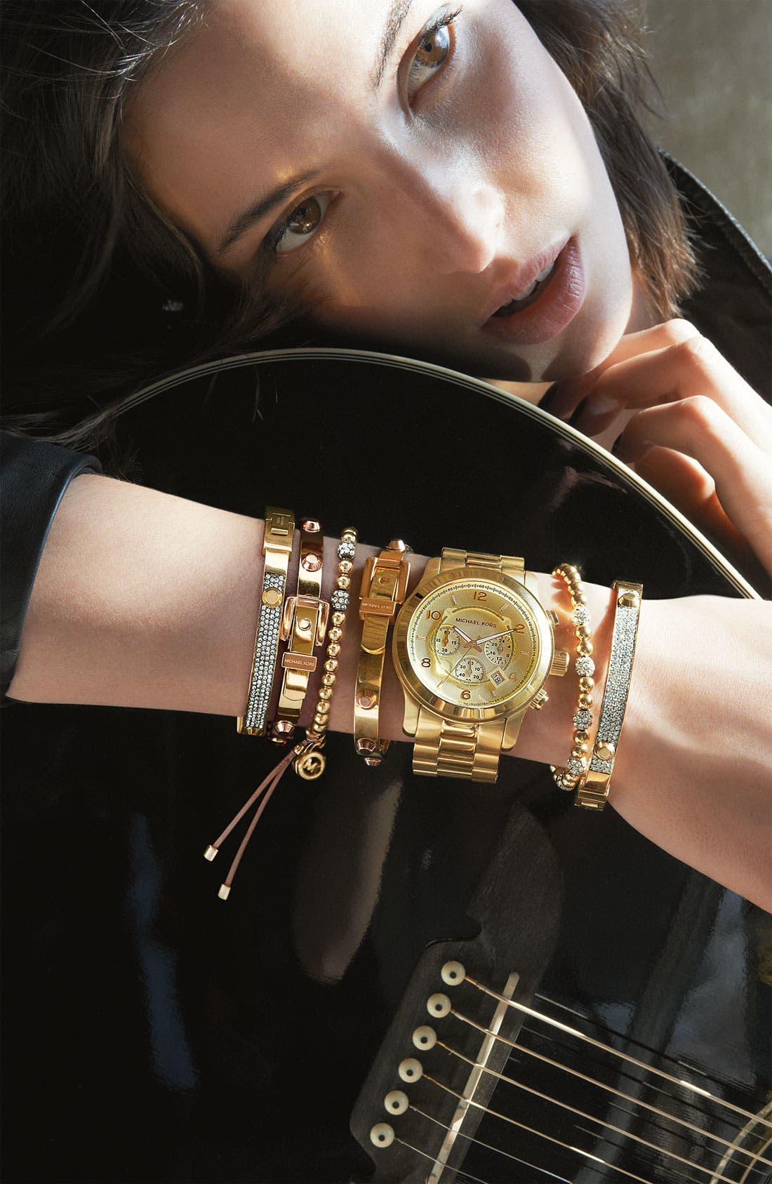Alternate Image 3  - Michael Kors Bead & Crystal Stretch Bracelet