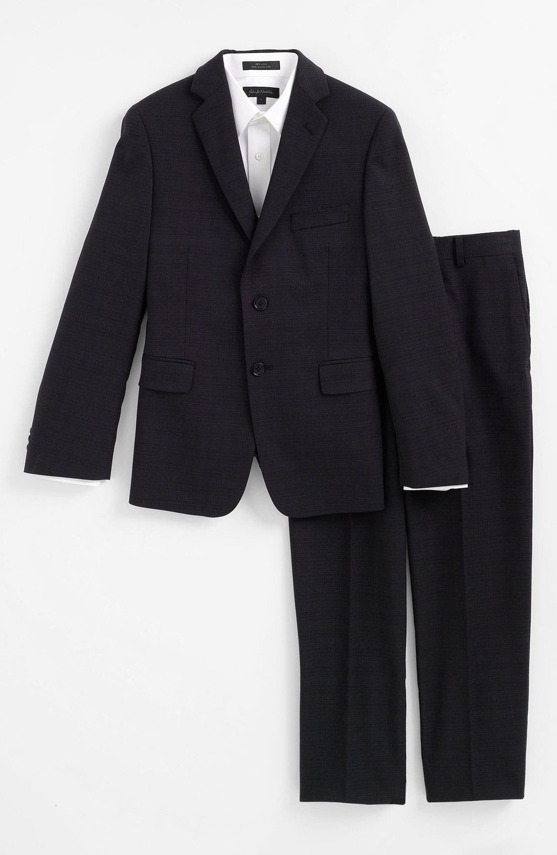 Main Image - John Varvatos Star USA Wool Suit (Big Boys)