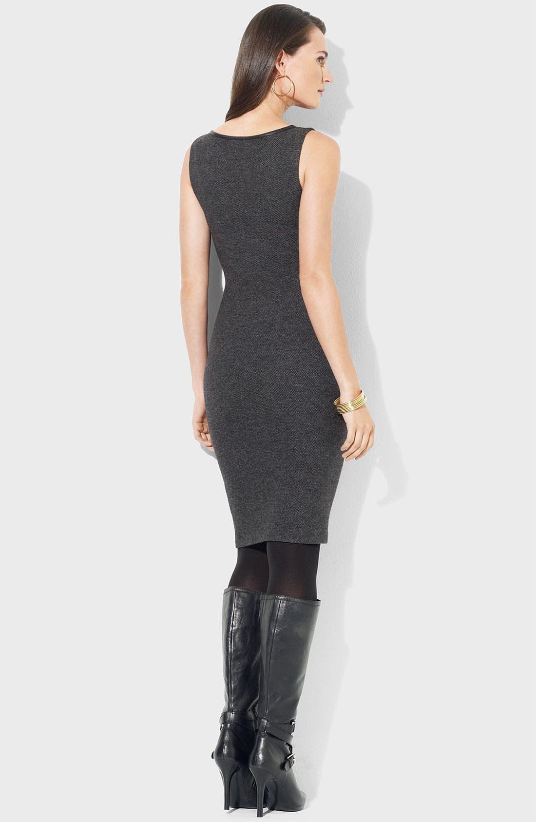 Alternate Image 2  - Lauren Ralph Lauren Bateau Neck Knit Sheath Dress