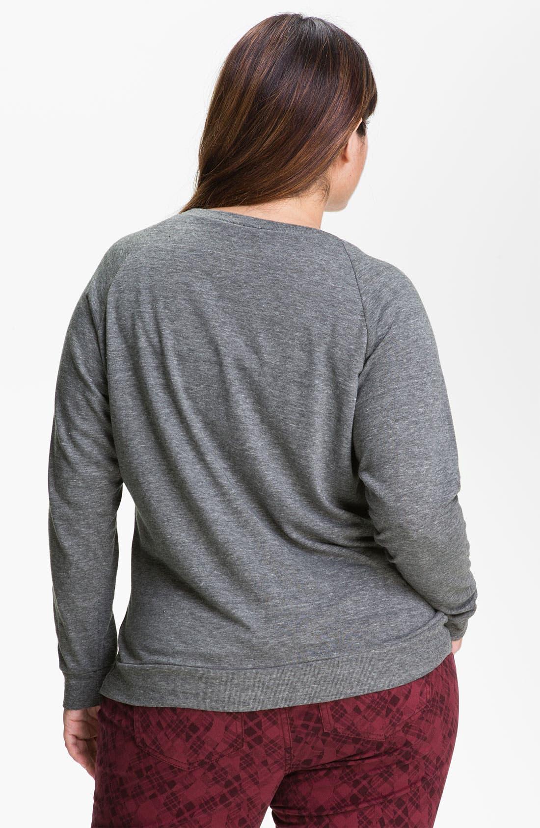 Alternate Image 2  - Nation LTD Raglan Sleeve Sweatshirt (Plus)