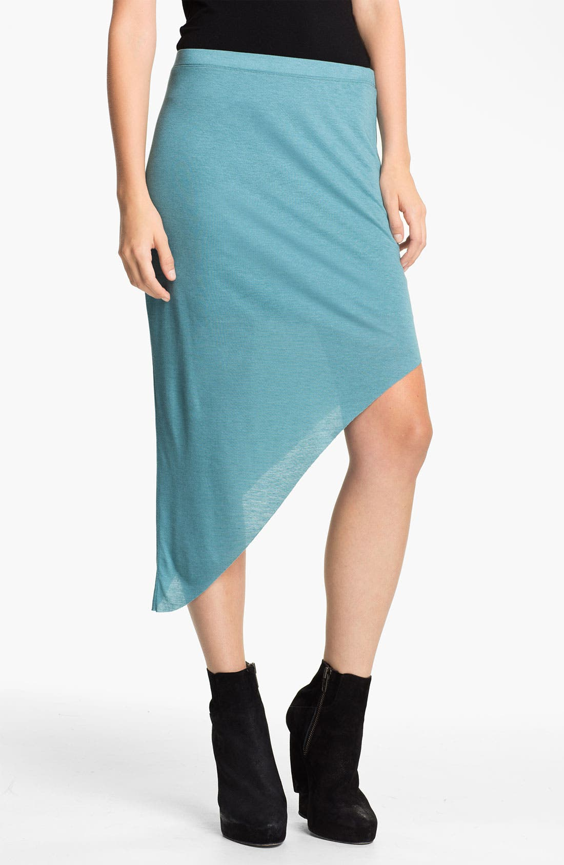 Main Image - HELMUT Helmut Lang 'Kinetic' Angled Jersey Skirt