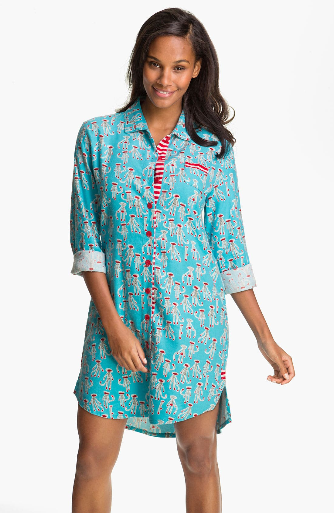 Alternate Image 1 Selected - Munki Munki Flannel Nightshirt