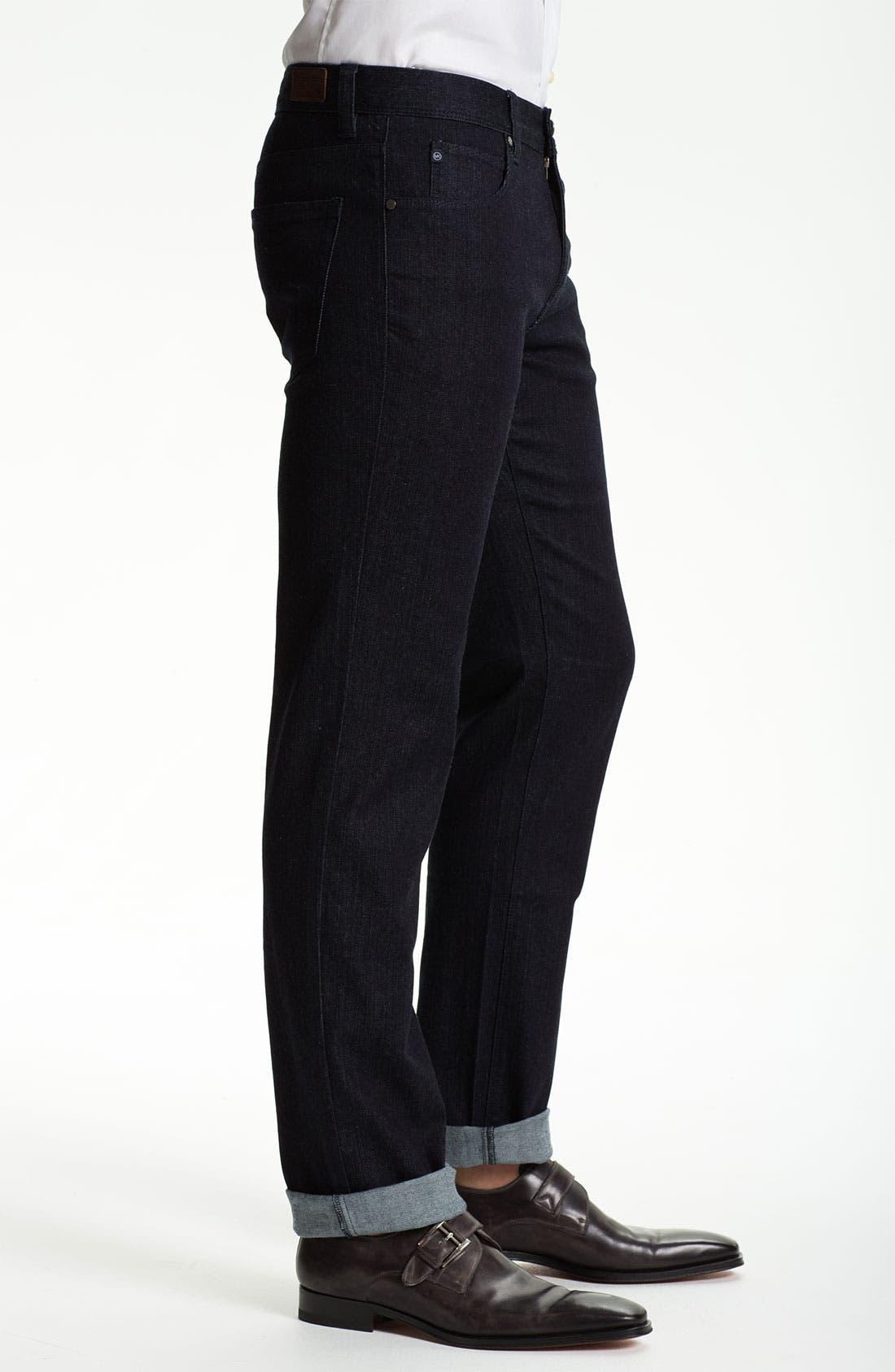 Alternate Image 3  - Michael Kors Straight Leg Jeans (Dark Rinse)