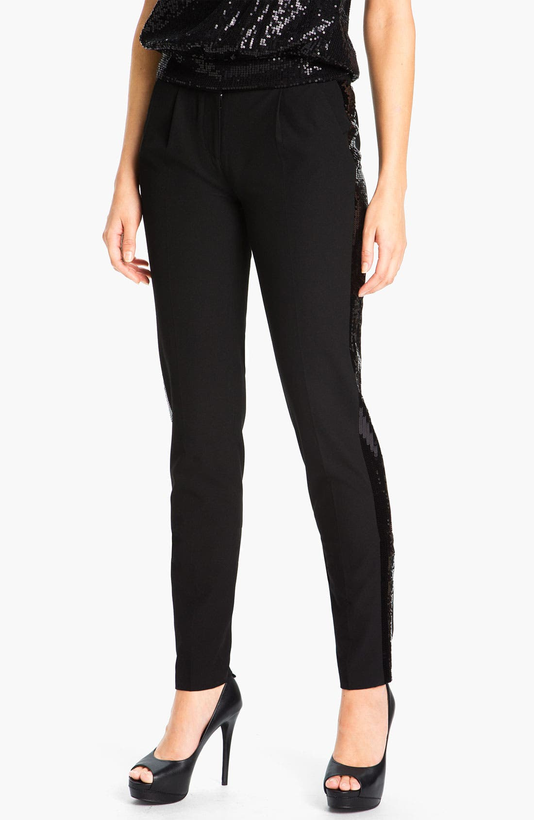 Alternate Image 1 Selected - MICHAEL Michael Kors Sequin Tuxedo Pants