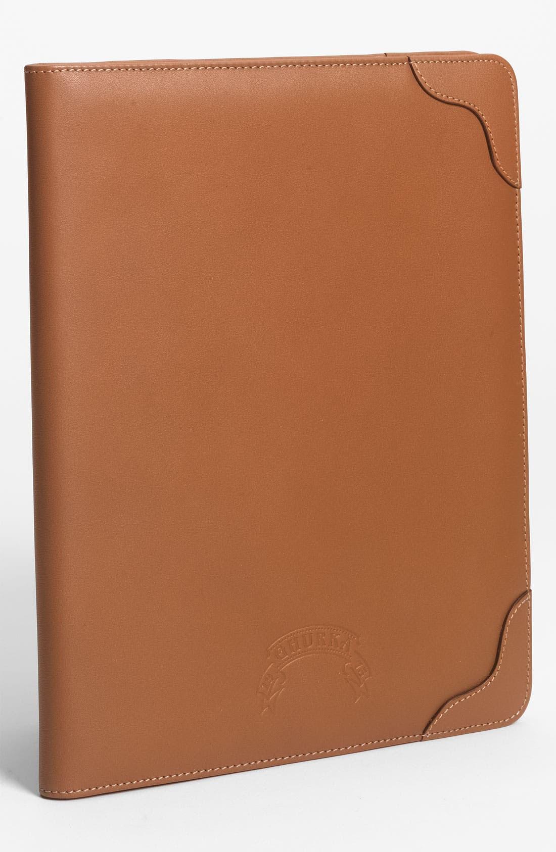 Flap Over iPad Case,                         Main,                         color, Chestnut