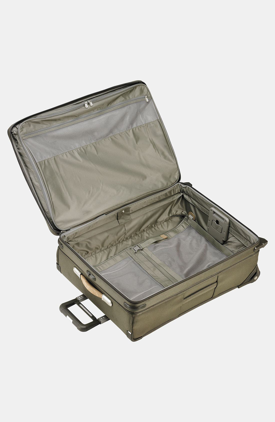 Large Baseline Expandable 27-Inch Rolling Packing Case,                             Alternate thumbnail 3, color,                             Olive