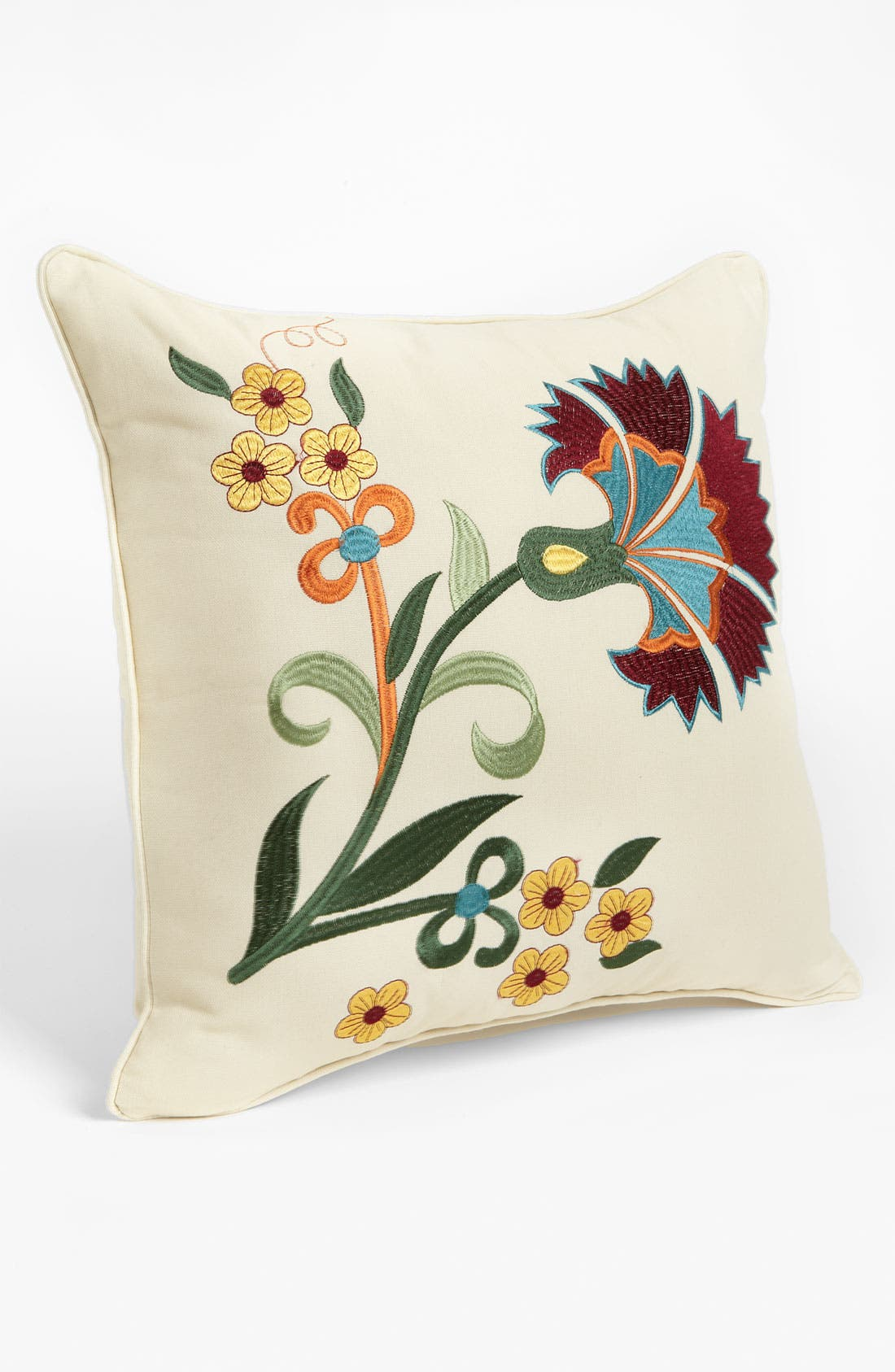 Alternate Image 1 Selected - Levtex Embroidered Flower Pillow