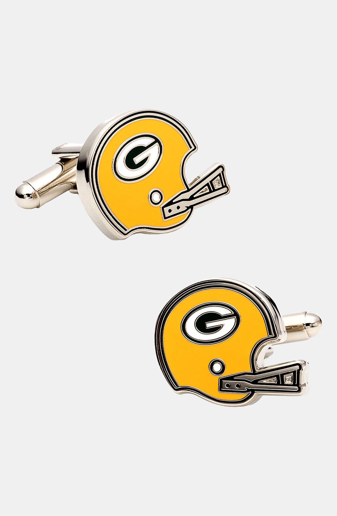 Main Image - Cufflinks, Inc. 'Retro Green Bay Packers' Cuff Links