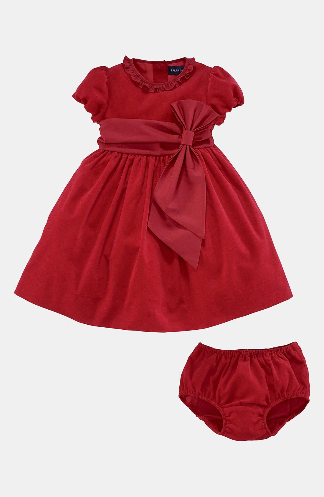Alternate Image 2  - Ralph Lauren Corduroy Dress (Infant)