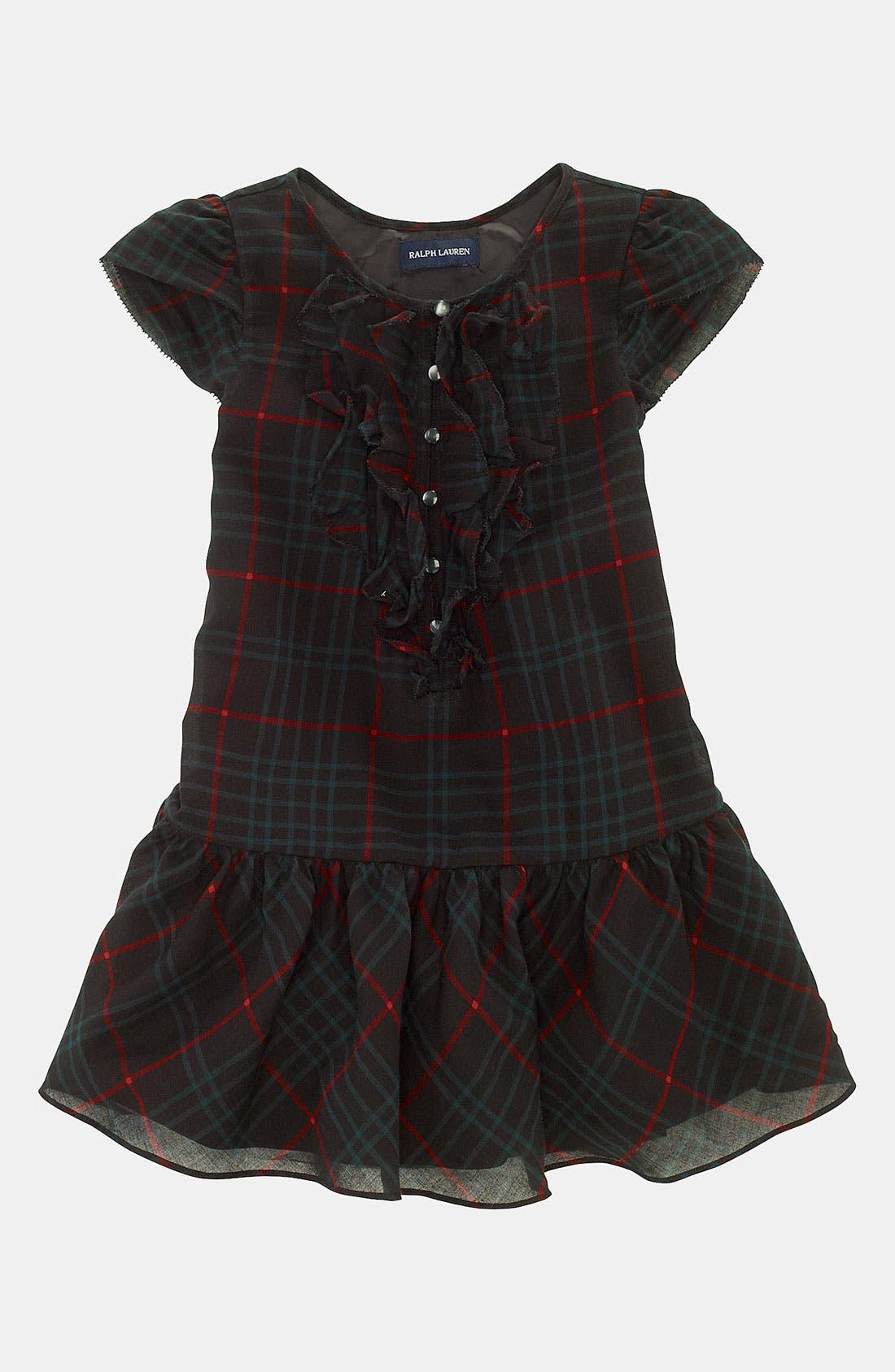 Main Image - Ralph Lauren Plaid Dress (Toddler)