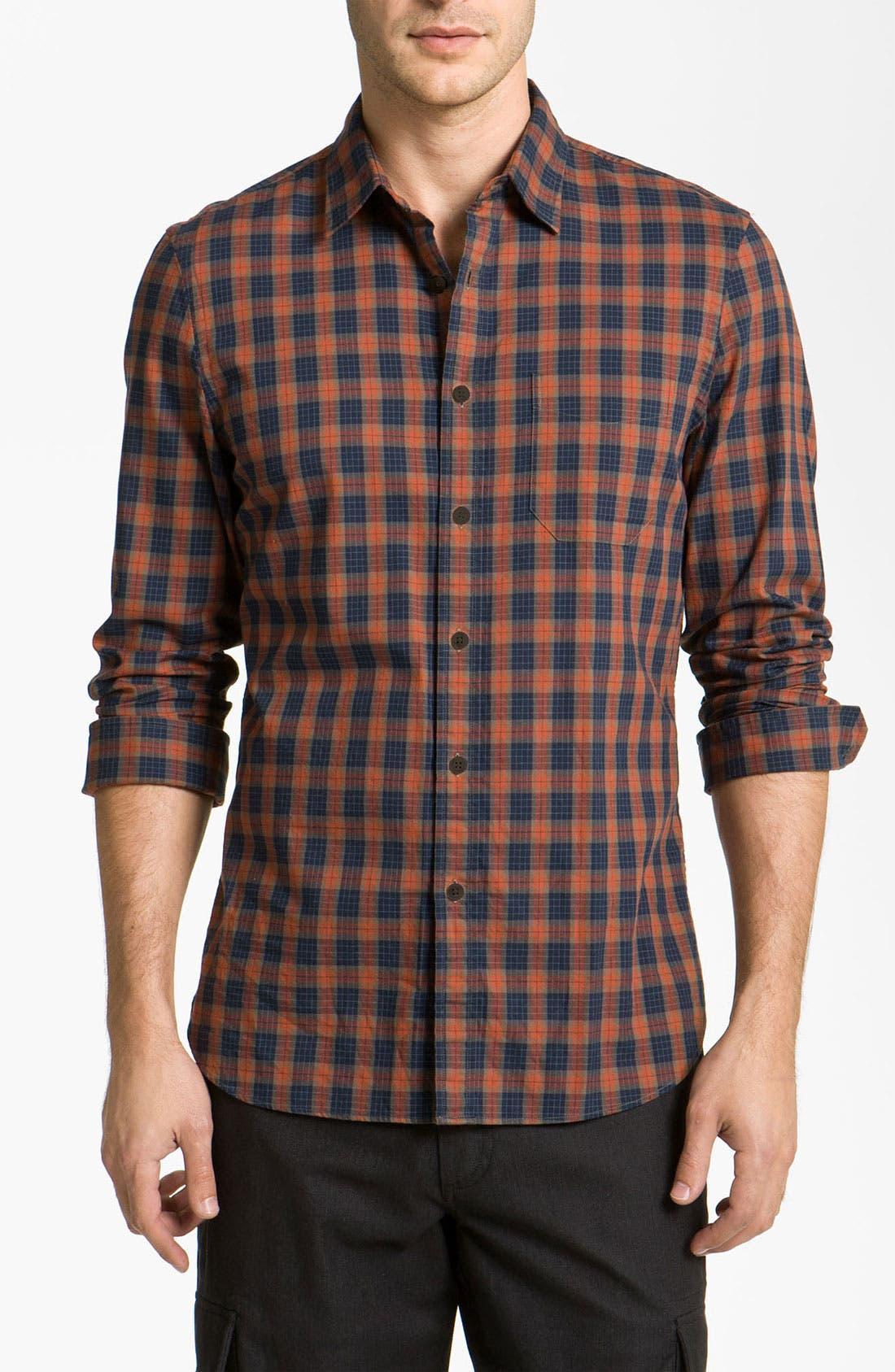 Main Image - Wallin & Bros. Plaid Sport Shirt