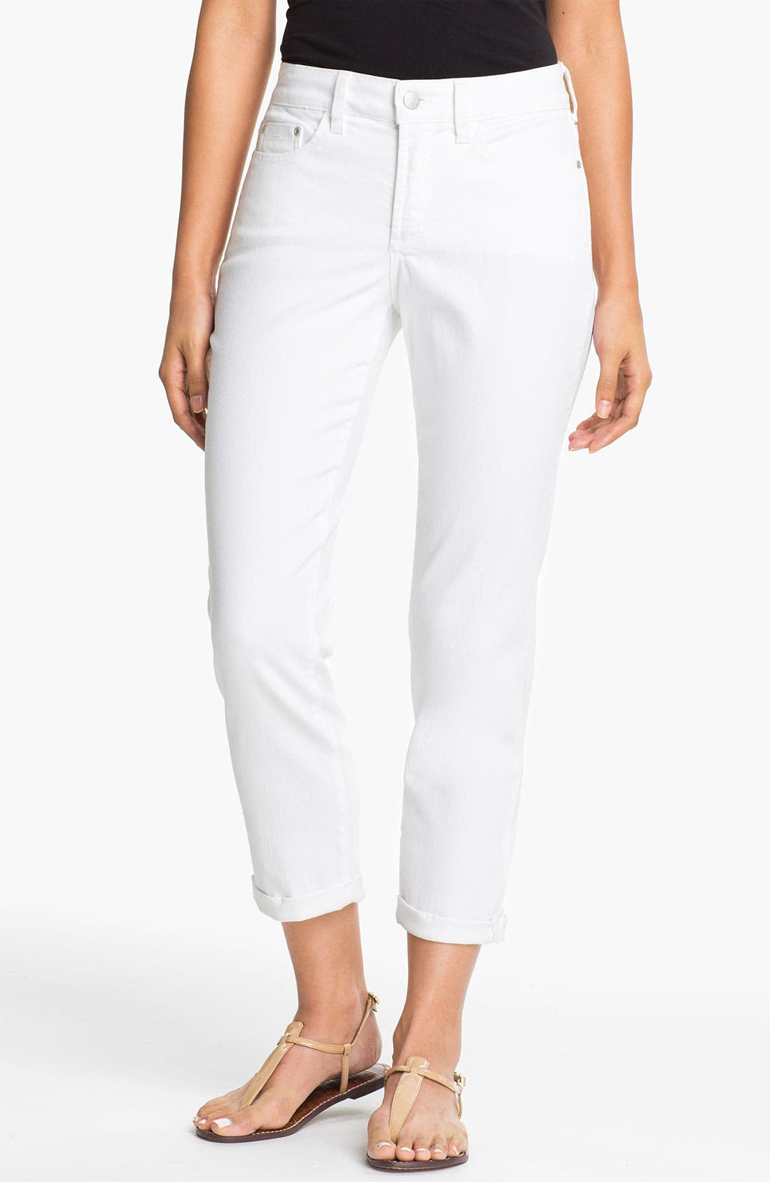 Alternate Image 1 Selected - NYDJ 'Kendall' Roll Cuff Stretch Crop Jeans