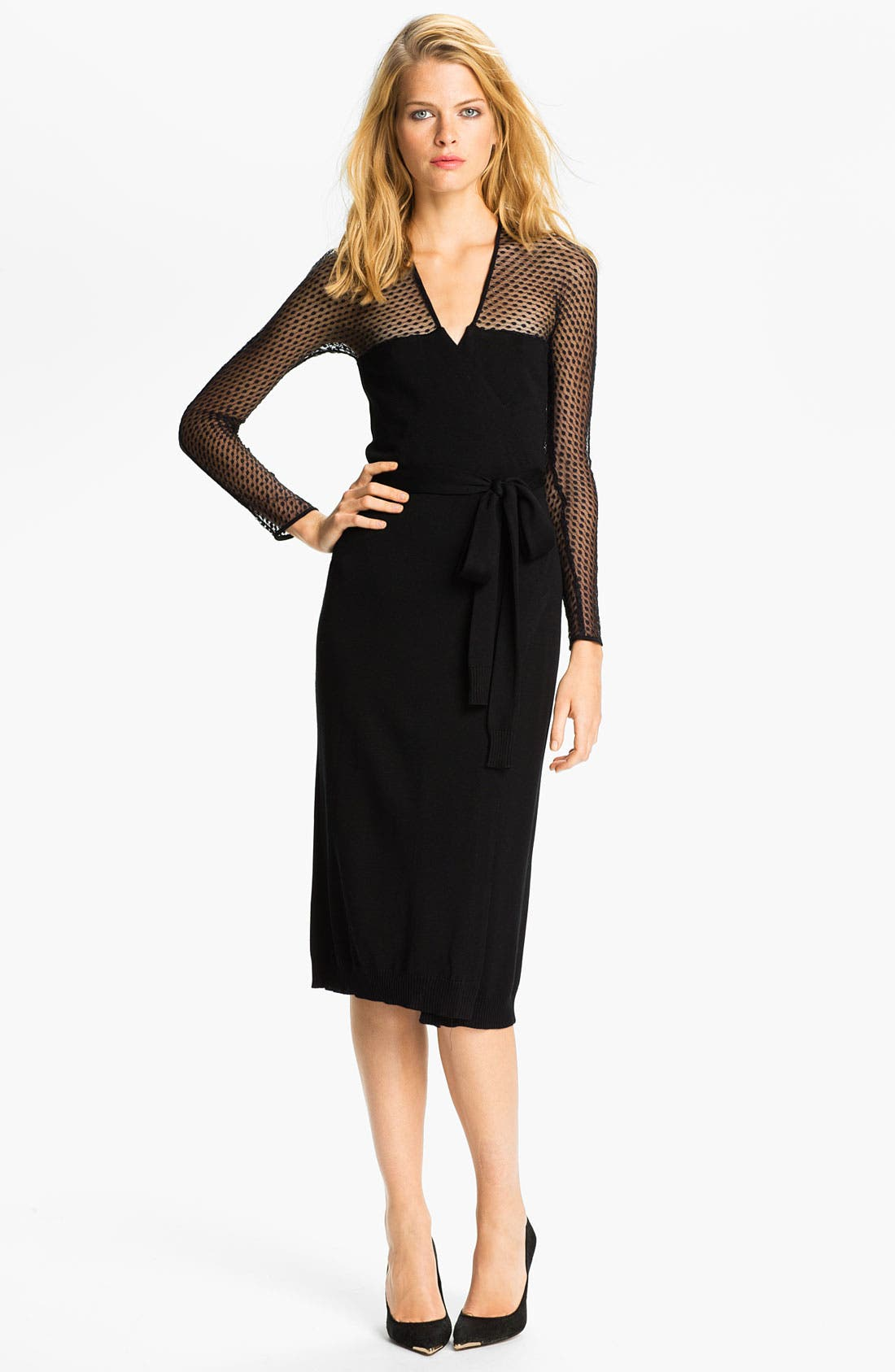 Alternate Image 1 Selected - Diane von Furstenberg 'Zalda Bis' Lace Wrap Dress