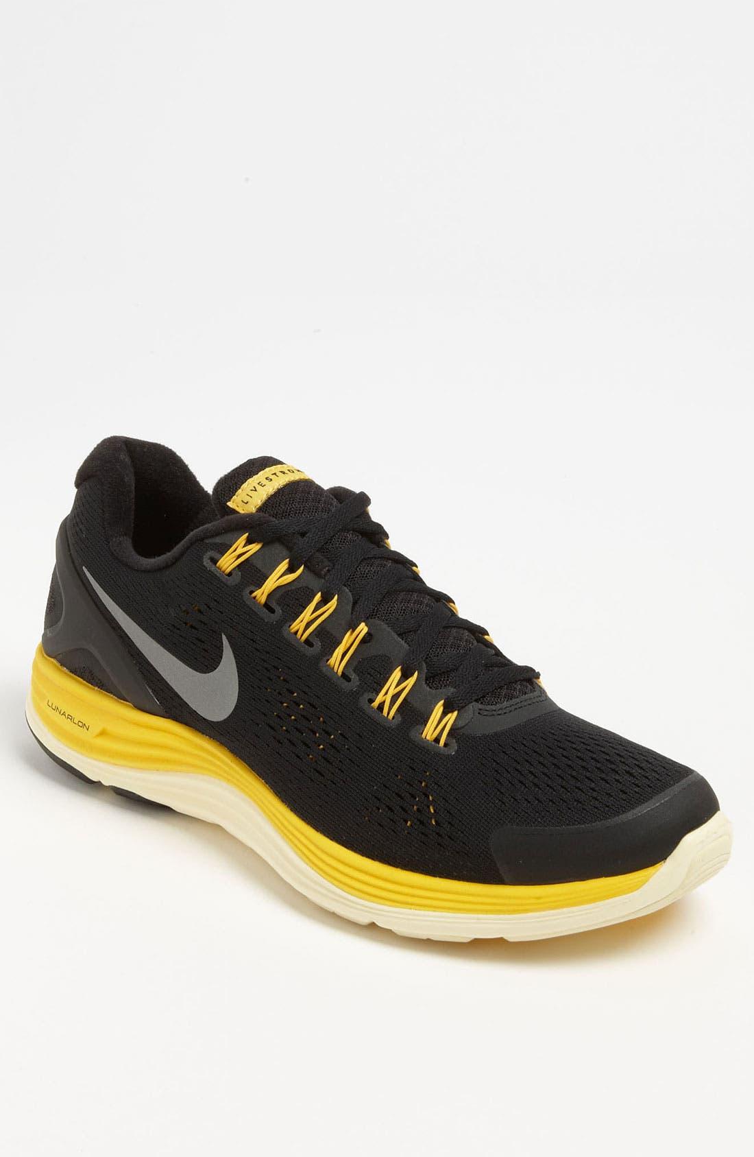 Alternate Image 1 Selected - Nike 'LIVESTRONG LunarGlide+ 4' Running Shoe (Men)